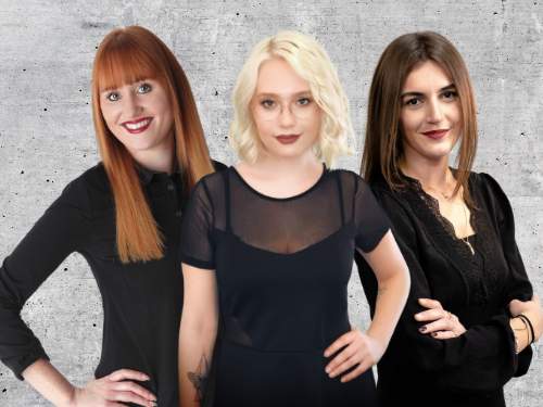 Drei Frauen mit Hintergrund 500x375